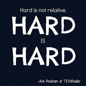 hard is hard quote by ash beckham