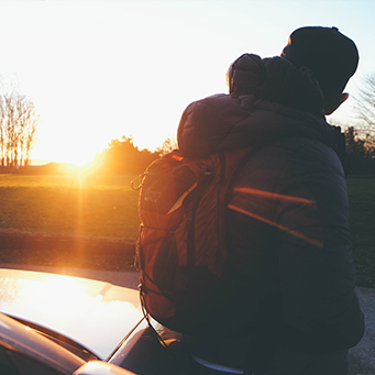 guy reflecting in winter sunrise, Therapy with Heart blog
